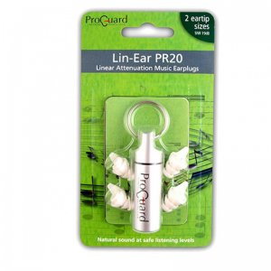 Pro Guard Lin-Ear PR20 Ear Plug Protection For Musicians & DJs