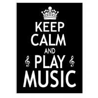 KC009 Keep Calm  and Play Music Card