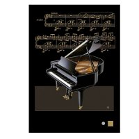 M089 Baby Grand Piano Greeting Card