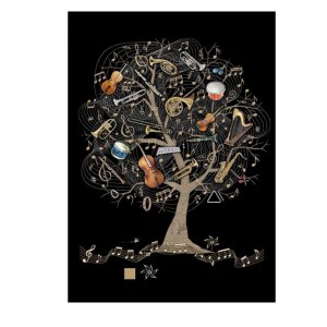 M138 Music Tree Greeting Card