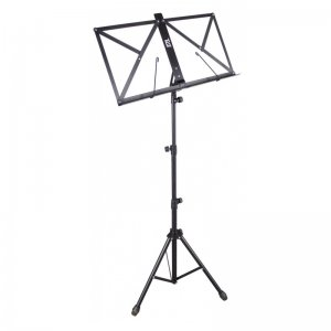TGI MS20BK Black Folding Music Stand With Bag