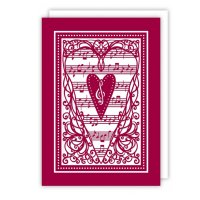 Quire 2832 Musical Heart Card