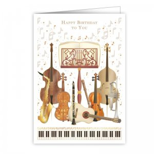 Quire 4047 Musical Instruments Birthday Card