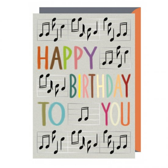 Quire 7829 Musical Notes Birthday Card