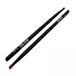 Vic Firth Nova, 5A Hickory, Black With Nylon Tip Drumsticks (VFN 5ANB)