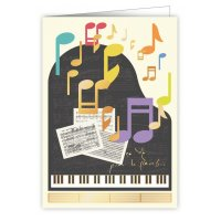 Quire 6343 Piano Notes Card