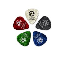 D'Addario Celluloid Planet Waves Picks, Pack Of 3, Light .50MM