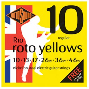 Rotosound R10 Roto Yellows Electric Guitar Strings 10 - 46w