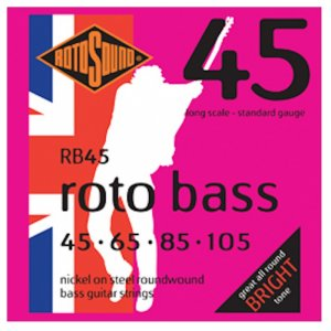 Rotosound RB45 Roto Bass , Electric Bass Guitar Strings 45 - 105