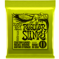 Ernie Ball Regular Slinky 2221  Electric Guitar Strings 10-46