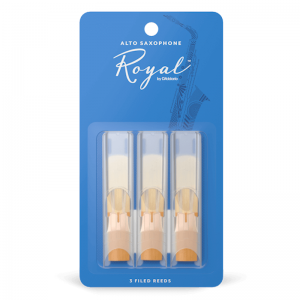 Rico Royal, Alto Saxophone Reeds, (Pack 3) Strength 2