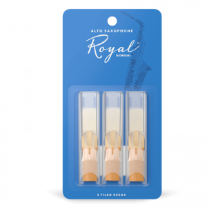Rico Royal, Alto Saxophone Reeds ,(Pack 3) Strength 3