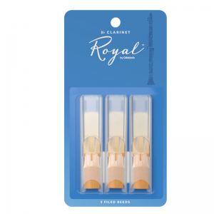 Rico Royal Bb Clarinet Reeds, (Pack 3), Strength 2