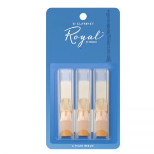 Rico Royal Bb Clarinet Reeds, (Pack 3), Strength 2.5