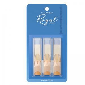 Rico Royal Bb Clarinet Reeds, (Pack 3), Strength 3