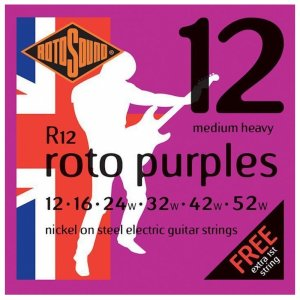 Rotosound R12 Roto Purples Electric Guitar Strings 12 -  52w