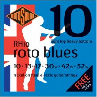 Rotosound RH10 Rotos Blues Electric Guitar Strings 10 - 52