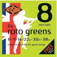 Rotosound R8 Roto Greens Electric Guitar Strings 8- 38w