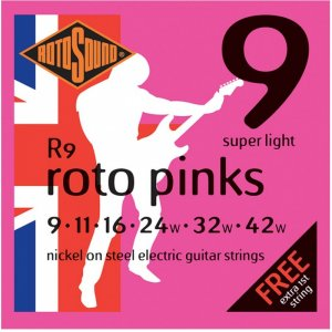 Rotosound R9 Roto Pinks Electric Guitar Strings 9 - 42