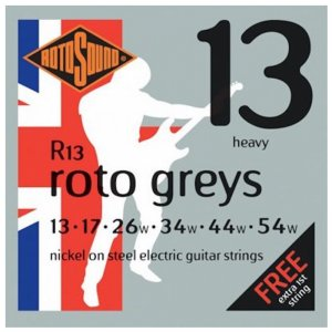 Rotosound R13 Roto Greys Electric Guitar Strings 13  - 54w