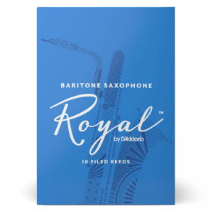Rico Royal Baritone Saxophone Reeds, (Box 10) Strength 2