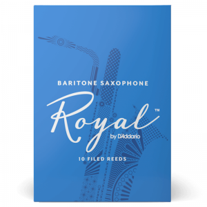 Rico Royal Baritone Saxophone Reeds, (Box 10) Strength 2.5