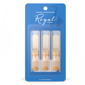 Rico Royal Tenor Sax Reeds, (Pack 3) Strength 2.5