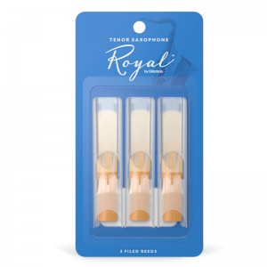 Rico Royal Tenor Sax Reeds, (Pack 3) Strength 3