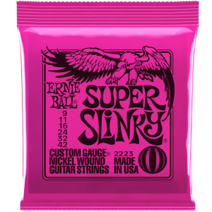 Ernie Ball Super Slinky 2223 Nickel Electric Guitar Strings  9 - 42
