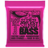 Ernie Ball Super Slinky 4 String Electric Guitar Bass Strings 45-100