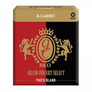 Rico Grand Concert Select, Thick Cut, Bb Clarinet Reeds , Box of 10