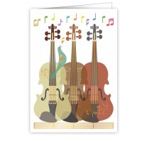 Quire 6318 Three Violins Card