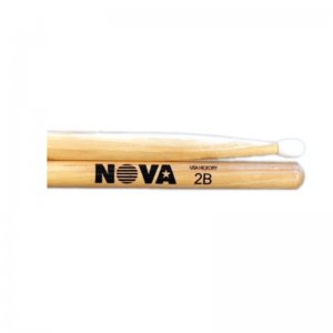 Vic Firth Nova, 2B Hickory With Nylon Tip Drumsticks (VFN 2BN)