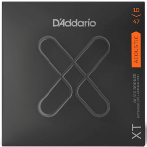 D'Addario XTABR1047 Acoustic Guitar Strings 80/20 Bronze .010-.047